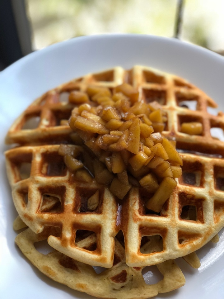One Serving Apple Pie Protein Waffles